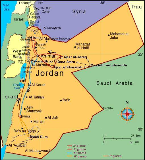 Cartina Israele Giordania.Racconti Di Viaggio Giordania 2003 Di Franco